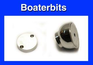 Boat RV Magnetic Door Catch Chrome Brass 1 3 8 50007