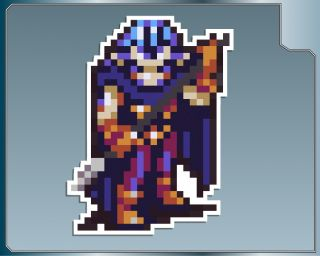 Magus Battle Sprite 4 Vinyl Decal from Chrono Trigger Car Laptop