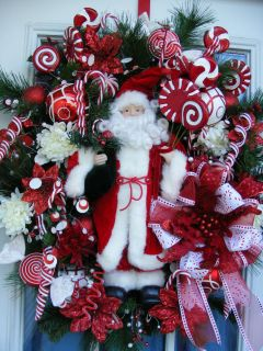 Petal Pushers Custom Made Santa Wreath Gingerbread Wreath Christmas