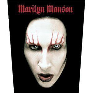 XLG Marilyn Manson Face Jacket Official Licensed Patch
