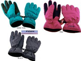 Manzella Youth Juniors Girls Bubble Ski Snow Glove L