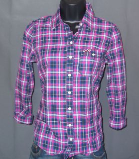 Hollister by Abercrombie Womens Manhattan Beach Plaid Shirt
