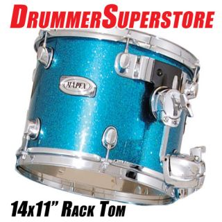 Mapex Pro M Tom Drum Bermuda Sparkle 14 x 11 Maple Rack Tom Drum