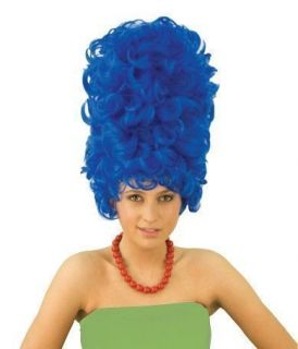 Marge Simpson Wig Blue Beehive Costume Party