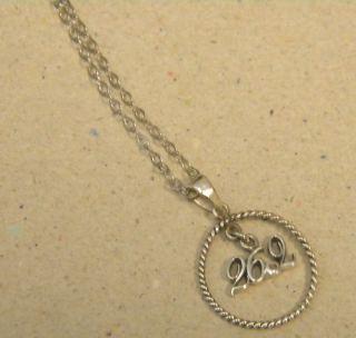 Silver Diamond Marathon Charm Necklace Chain Set 26.2 Finisher New
