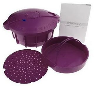 Prepology 4 Qt Microwave Pressure Cooker with Recipes Purple