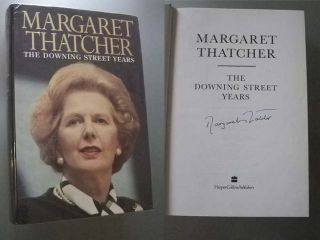 Downing Street Years Signed Margaret Thatcher Hardback 1st 1st Edition
