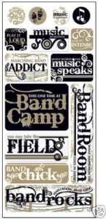 Marching Band Sticker Sheet Scrapbooking Band Camp