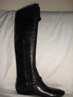 Via Spiga Malory Womens 9 5 Black Leather Tall Boots