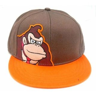 Authentic DONKEY KONG Flexfit Hat S M Mario Brothers Nintendo TOO COOL