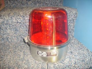 Vintage Tripp Lite Mark VI Rotating Red Beacon DJ Party Light