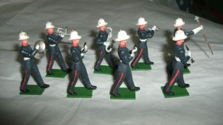 Vintage Britains Royal Marine Band Figures Drum Major Blue Uniform