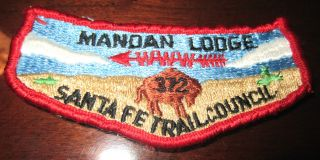 BSA Boy Scout Uniform Patch Mandan Lodge 372 Sante FE Trail Council