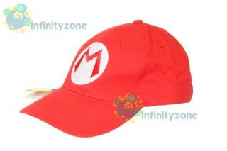 Super Mario Bros Anime Cosplay Kids Hat Mario M Cap Red
