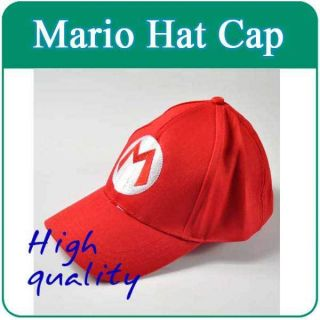 Super Mario Bros Cosplay Baseball M Hat Mario Red Cap