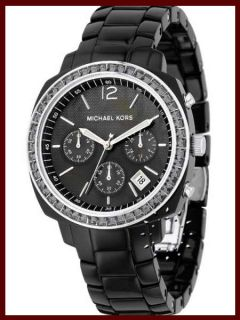 New Michael Kors MK5080 Womens Jet Black Chronograph Watch