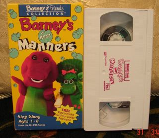 Barneys Best Manners VHS Video FREE 1st CL S/H w/Tracking & Friends