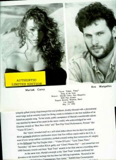 Mariah Carey Ben Margulies Limited Edition Press Kit