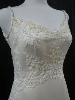 Casablanca Bridal Wedding Gown Dress 1768 Sz 12