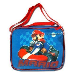 Nintendo Super Mario Wii Kart School Kids Lunch Bag Box w Adjustable