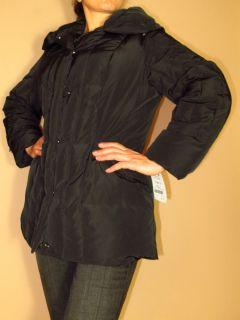 Marina Rinaldi Max Mara Natural GOOSE Down Black Quilted Coat MR21 12