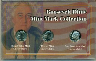 US Roosevelt Dime Mint Mark Collection
