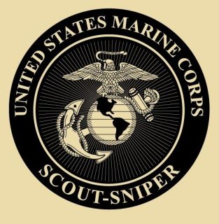 USMC Marines Scout Sniper T Shirt M XL