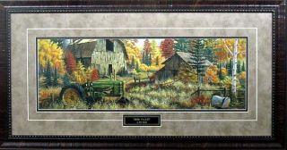 Deer Valley by Mark Daehlin Tractor Farm Print Framed 33 x 17 5