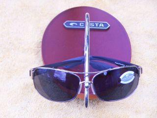 Costa Del Mar Sunglasses Manteo Palladium Silver Frame Grey 580 P Lens