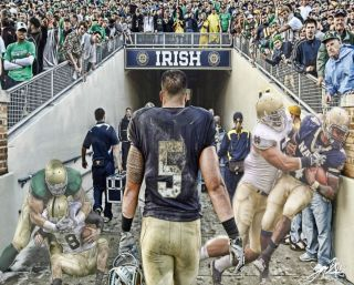 Manti TEO 8x10 Aluminum Print Notre Dame Fighting Irish
