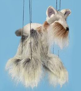 Baby Yorkshire Terrier Dog Marionettes String Puppets