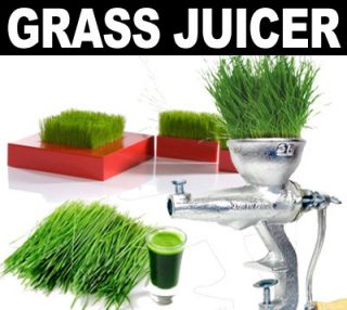 Cast Iron Manual Wheat Grass Fruit Juicer Extractor Grinder