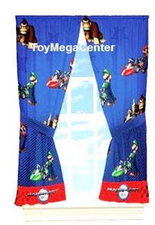 Super Mario Luigi Kids Bedroom Deco Panel Curtains New