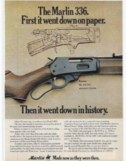 RARE 1975 Marlin 336 Lever Action Rifle Ad