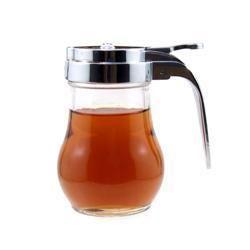Maple Syrup or Honey Dispenser 6 oz Glass Holder