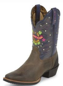 Womens Tony Lama ST1002 Marne Lucky Stars Western Cowboy Boots