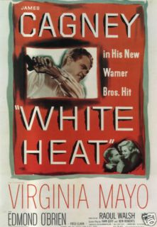 White Heat James Cagney Vintage Movie Poster Print