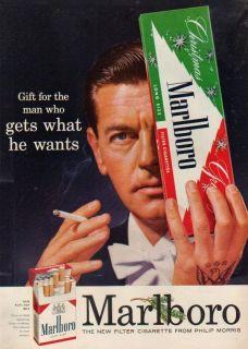 1955 Marlboro Cigarettes Flip Top Box Eagle Tattoo Smoking Christmas