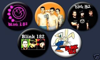 Blink 182 Punk Rock Mark Hoppus 1 Buttons Pins Badges