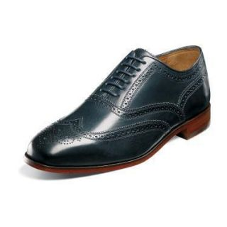 Florsheim Marlton Mens Navy Leather Shoe 12064 410
