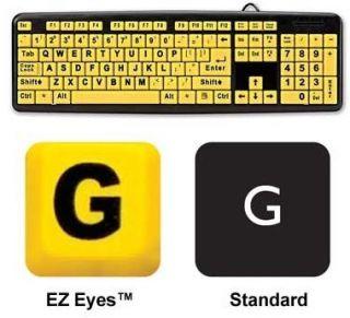 EZ Eyes Keyboard 4X Larger Print Spill Resistant as Seen on TV