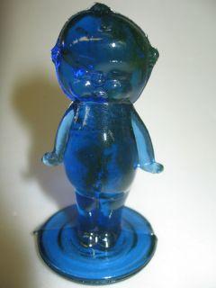 Cobalt Blue Vaseline glass Kewpie / cupie doll uranium girl figurine
