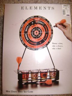 Elements Mini Darts Shot Set Game