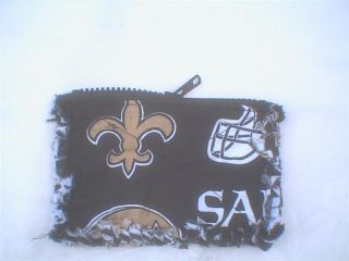 Fabric Rag Quilt Coin Purse NFL New Orleans Saints