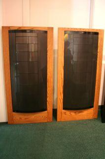 Martin Logan CLS II Speakers Dark Oak Trim Rare Full Electrostatic