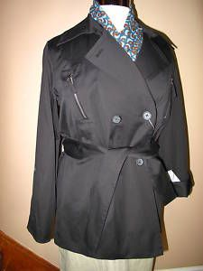 Marina Rinaldi Black STRTC Trench Rain Coat MR21 23