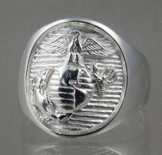 Marine Corps Sterling Ring Official License Size10 5