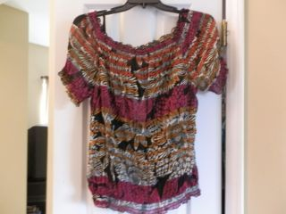 WOMENS MULTI COLOR 2 PC SHEER TOP AND CAMI SET EAST 5TH LABEL SIZE XL