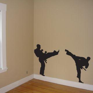 Martial Arts Wall Mural Kick Decal Wall Art Martial Arts Vinyl Sticker
