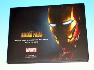 Marvel Studios Iron Man Movie Prop Costume Auction Hardcover PROPWORX